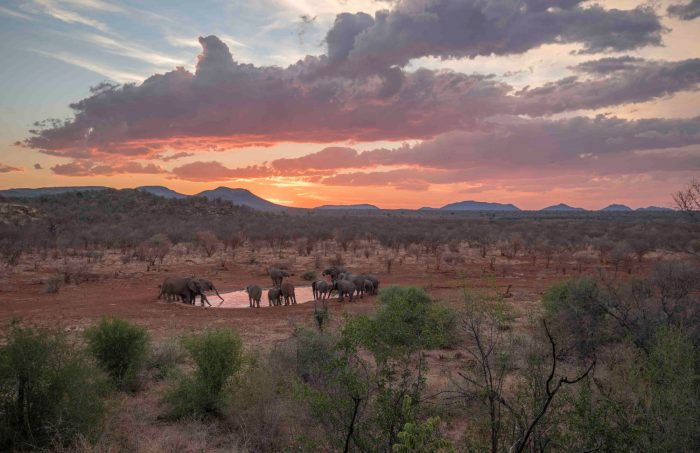 Etali Safari Lodge Lodges Looks West - Luxury African Safari